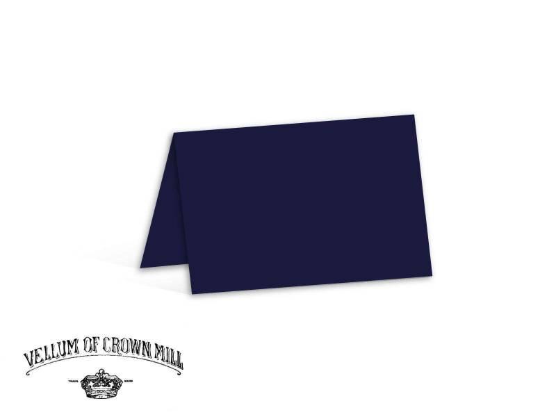Carte double velin format 17x23cm - Bleu Nuit
