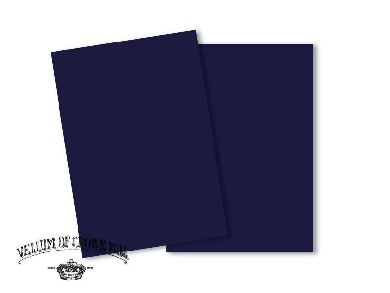 Carte velin format A5 - Bleu Nuit