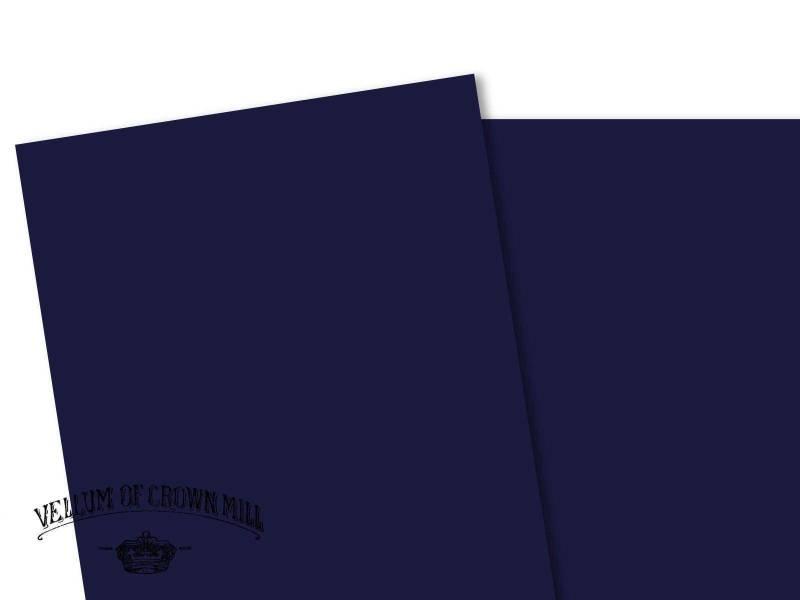 Carte velin format A4 - Bleu Nuit