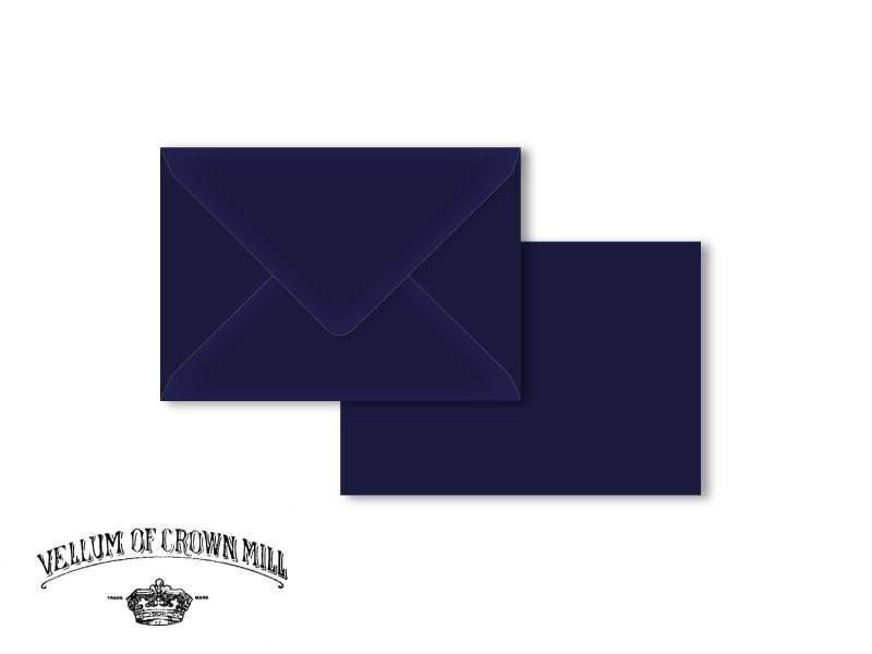 Enveloppe velin format C6 - Bleu Nuit