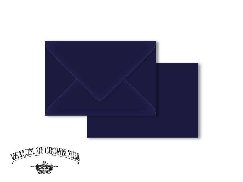 Enveloppe velin format 12x18cm - Bleu Nuit