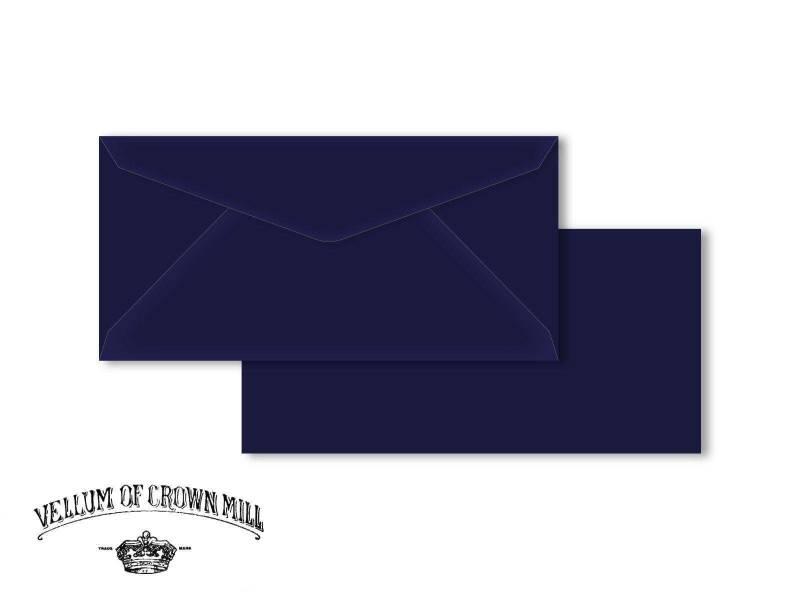 Enveloppe velin format DL - Bleu Nuit