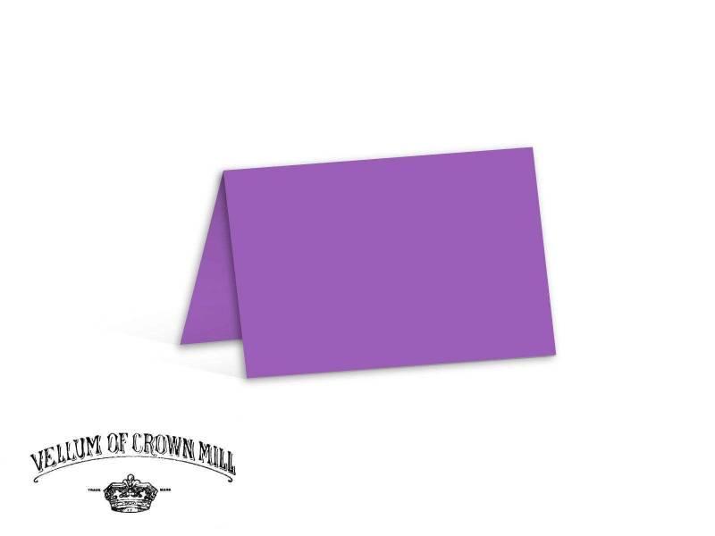 Carte double velin format 17x23cm - Mauve
