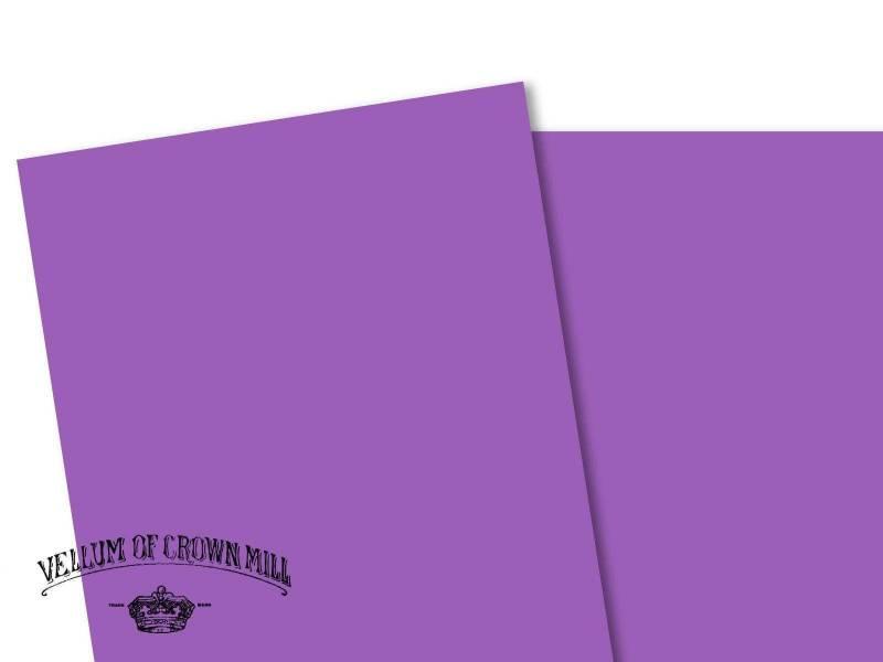 Carte velin format A4 - Mauve