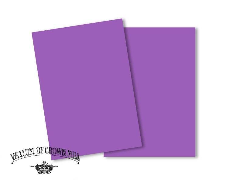Carte velin format A5 - Mauve