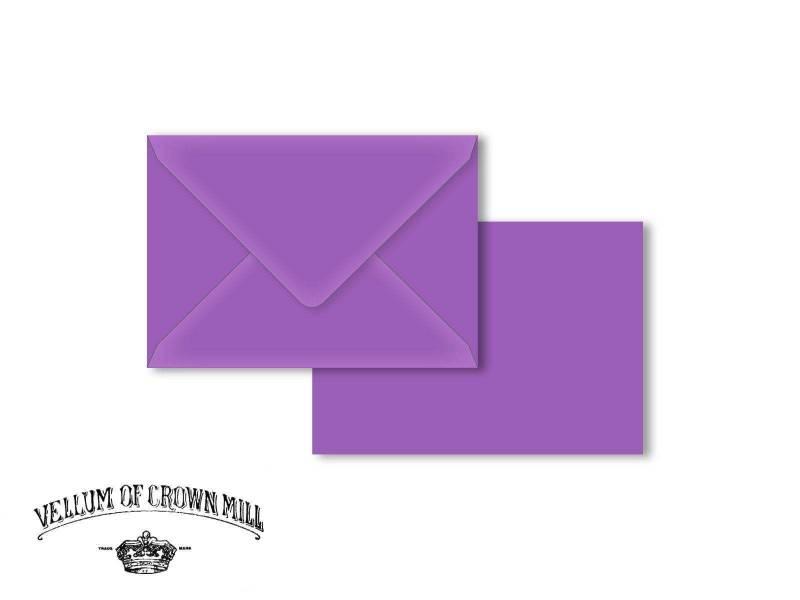 Enveloppe velin format C6 - Mauve