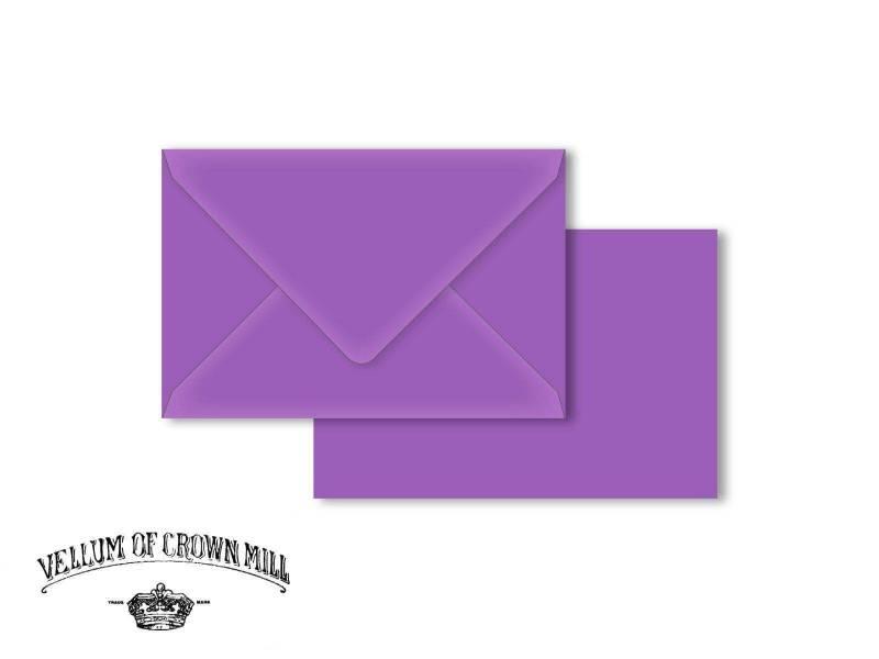 Enveloppe velin format 12x18cm - Mauve