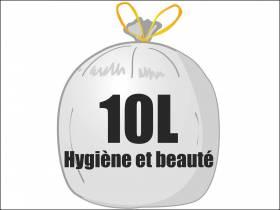 Sac poubelle PEHD 10L - Blanc
