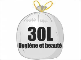 Sac poubelle PEMD 30L - Blanc