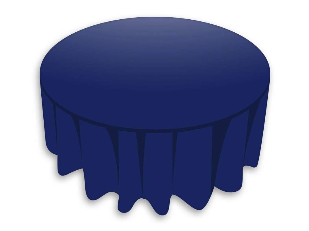 nappe ronde tnt bleu marine. Black Bedroom Furniture Sets. Home Design Ideas