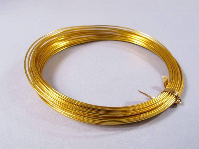 Fil Aluminium décoratif pour bijoux 1mm - Or