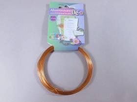 Fil Aluminium décoratif pour bijoux 1mm - Orange Cuivré