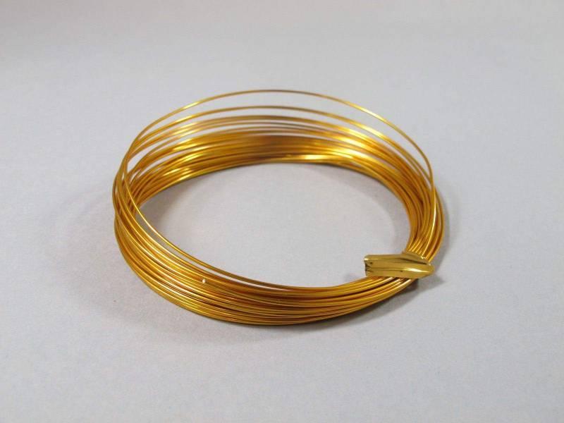 Fil Aluminium décoratif pour bijoux 1mm - Safran
