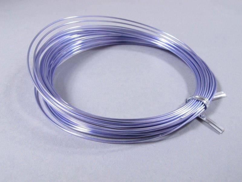 Fil Aluminium décoratif pour bijoux 1mm - Lilas