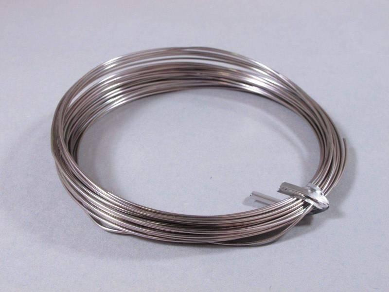 Fil Aluminium décoratif pour bijoux 1mm - Rose Brumeux