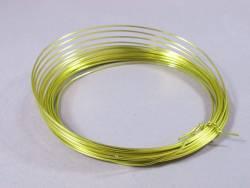 Fil Aluminium décoratif pour bijoux 1mm - Vert Pomme