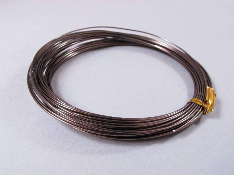 Fil Aluminium décoratif pour bijoux 1mm - Chocolat