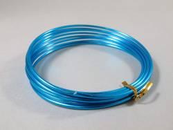 Fil Aluminium décoratif pour bijoux 3mm - Turquoise