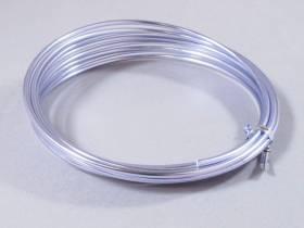 Fil Aluminium décoratif pour bijoux 3mm - Lilas