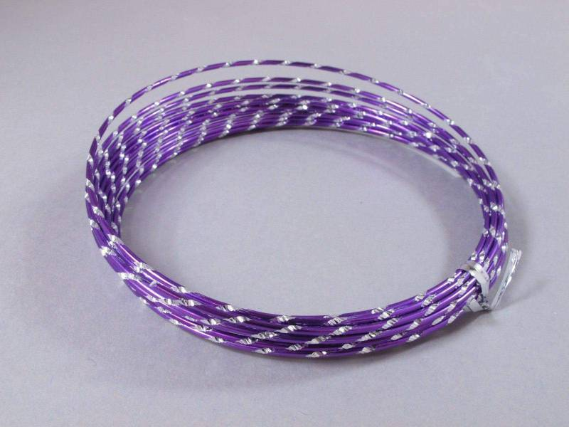 Fil alu diamant pour Création Bijoux 5m - Lilas