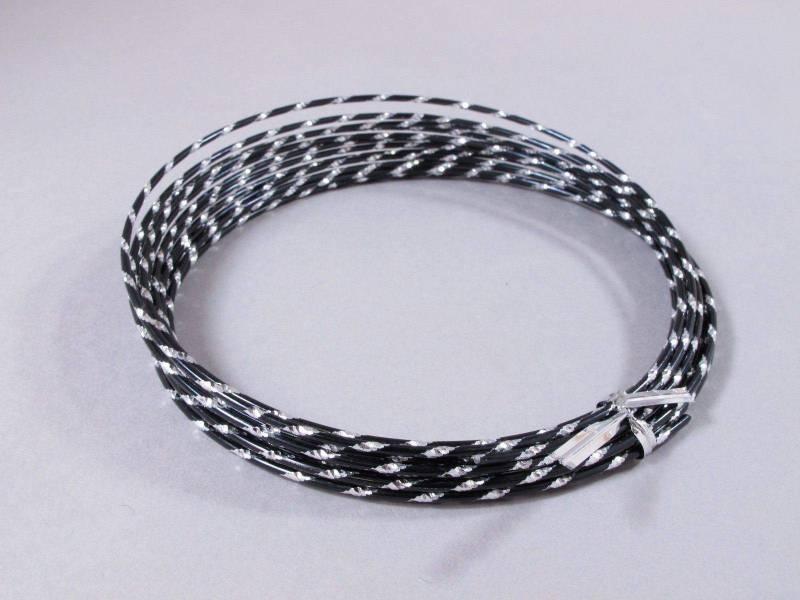 Fil alu diamant pour Création Bijoux 5m - Noir