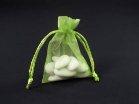 Sachet 10cm pour Mariage ou Baptème organza - Vert Pomme