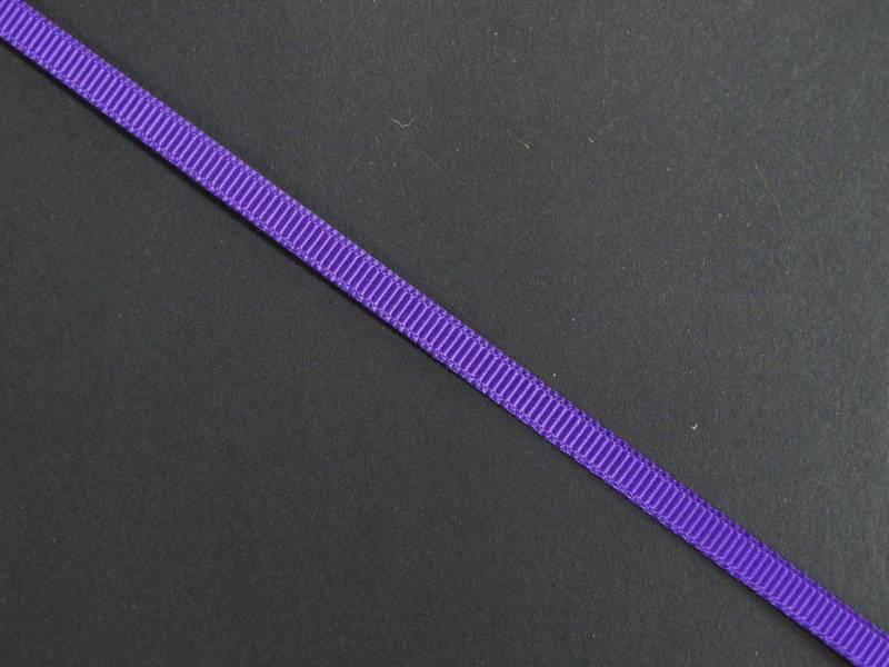 Ruban gros grain 0,5cm - Violet