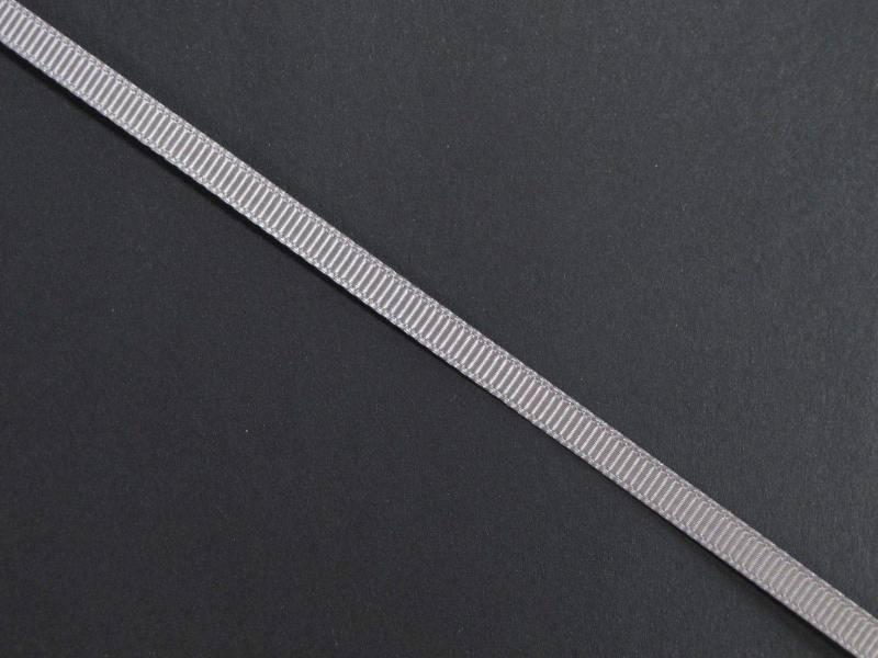 Ruban gros grain 0,5cm - Gris