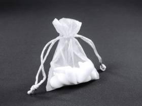 Sachet 10cm pour Mariage ou Baptème organza - Blanc