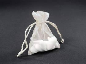 Sachet 10cm pour Mariage ou Baptème organza - Crème