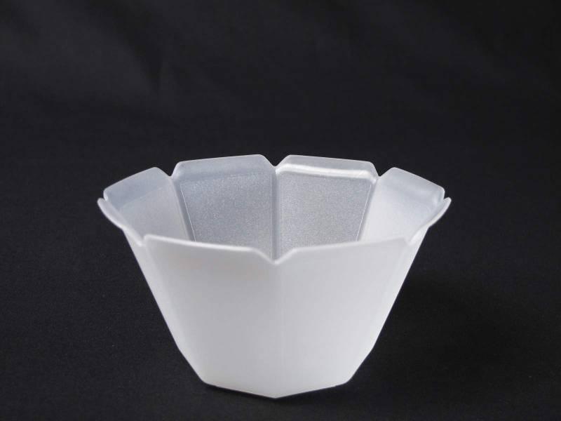Coupelle plastique pour glace, fruit ... Blanc Satiné - 35cl