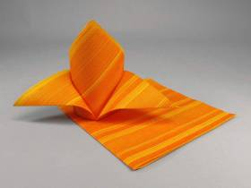 Serviette de table papier motif soul - Orange