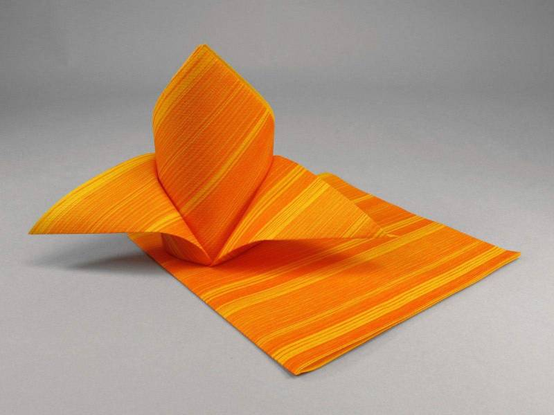 Serviette de table papier motif soul - Orange
