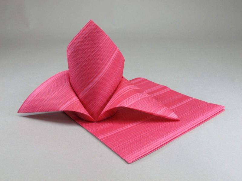 Serviette de table papier motif soul - Fuchsia