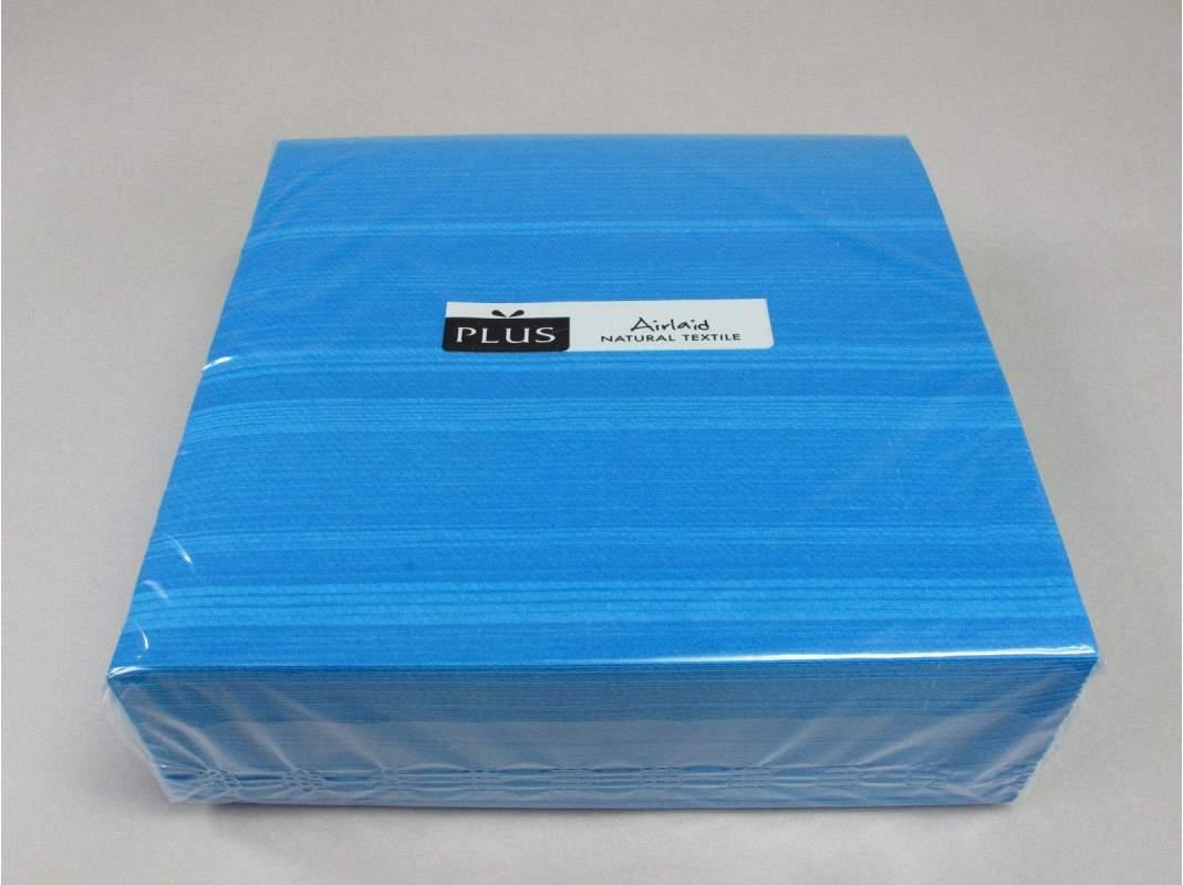 Serviette de table papier motif soul bleu decofete - Serviette de table bleu roi ...