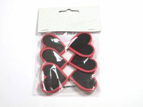 Coeur ardoise sur pince - Fuchsia
