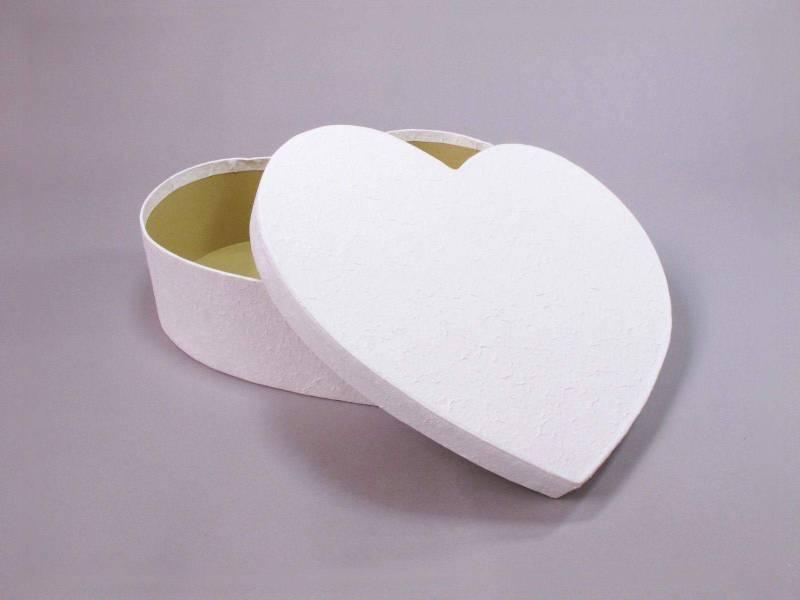 Urne mariage coeur S - Blanc