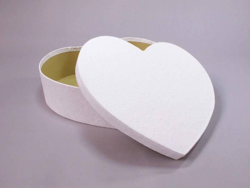 Urne mariage coeur M - Blanc
