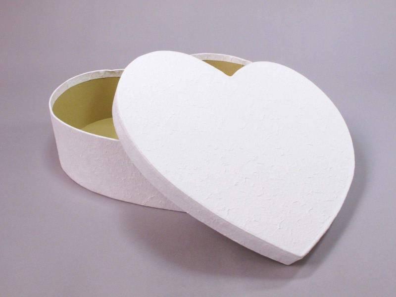 Urne mariage coeur L - Blanc