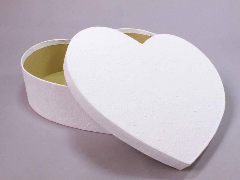 Urne mariage coeur XL - Blanc