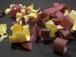 Petit Canon à confettis - Bordeaux Ivoire