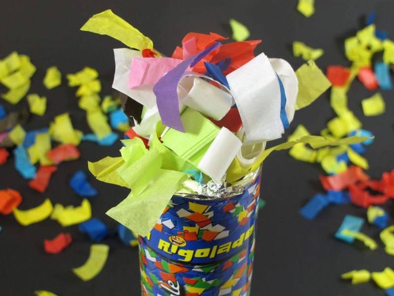 Grand Canon à confettis - Multicolore