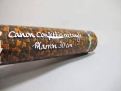 Petit Canon à confettis - Marron