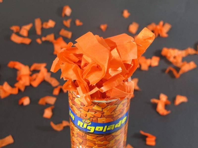 Petit Canon à confettis - Orange