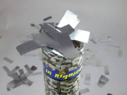 Petit Canon à confettis - Rectangle Argent