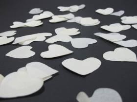Petit Canon à confettis - Coeur Blanc
