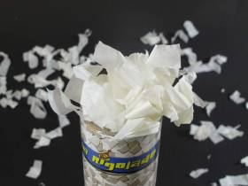 Petit Canon à confettis - Serpentin Blanc