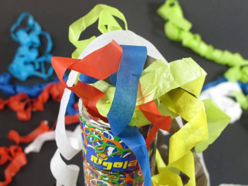 Petit Canon à confettis - Serpentin Multicolore