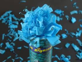 Grand Canon à confettis - Turquoise