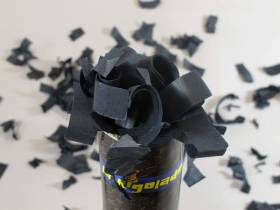 Grand Canon à confettis - Noir